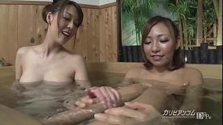 Naked gals bath pool voyeured