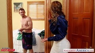 Nasty mommy eva notty fucking shlong with her tits