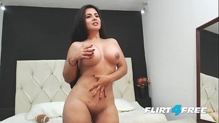 Beautiful sarah harper discloses her large billibongs and butt with striptease