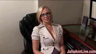 Milf julia ann fantasies about engulfing shlong!