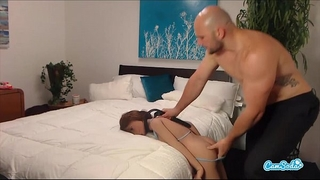 Jmac receives oral-service anal and doggie from real doll in advance of cumming in her gazoo