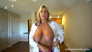 Busty sex dr finger group-fucked previous to her cum facial