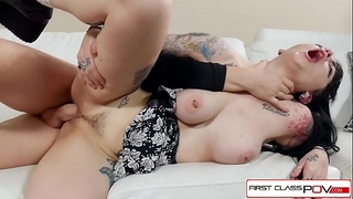 Watch draven star this goth rocker hottie engulf and fuck in pov a massive penis
